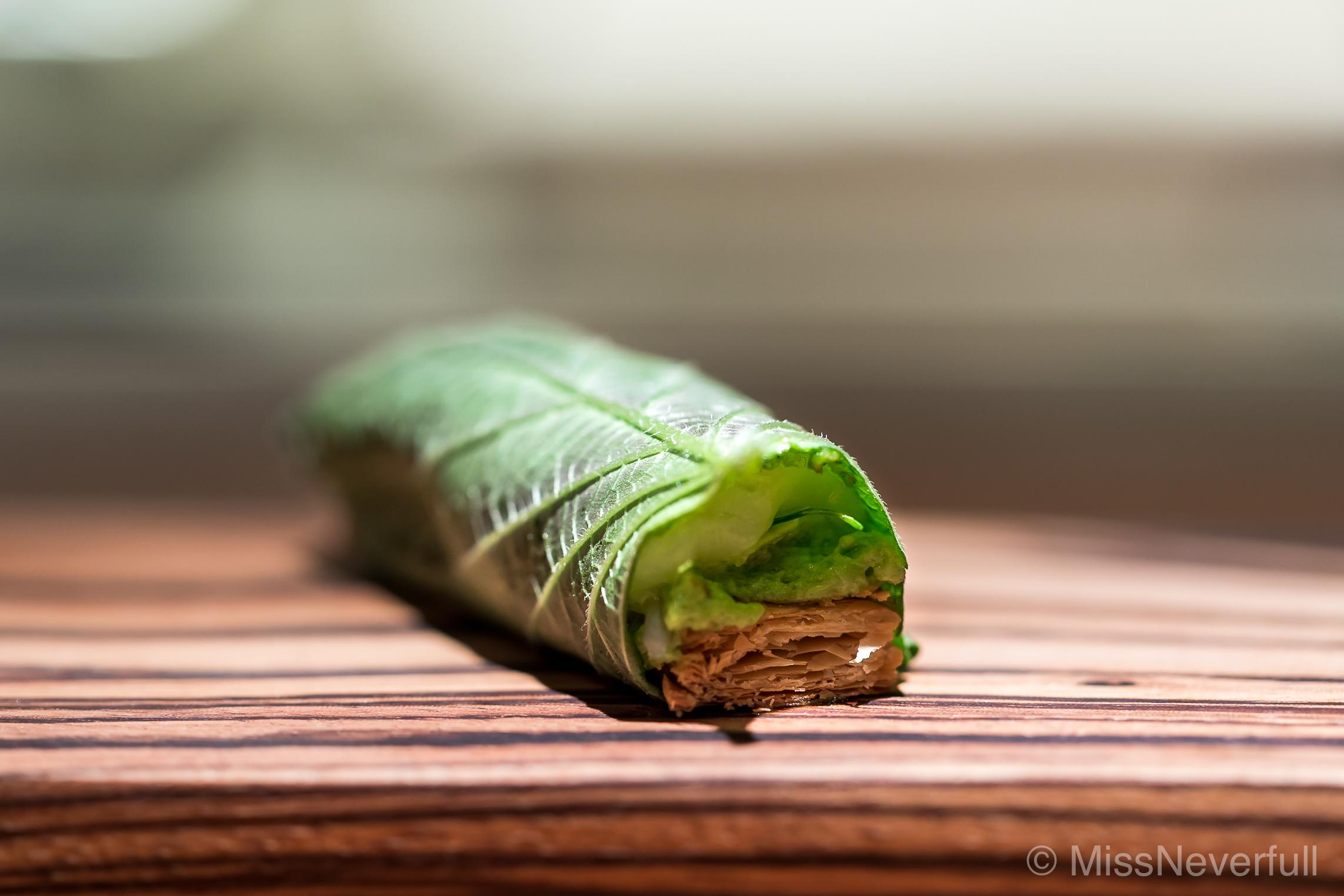 1. Scallops, Egoma (perilla)leaf, potato and parsley cream on mille feuille