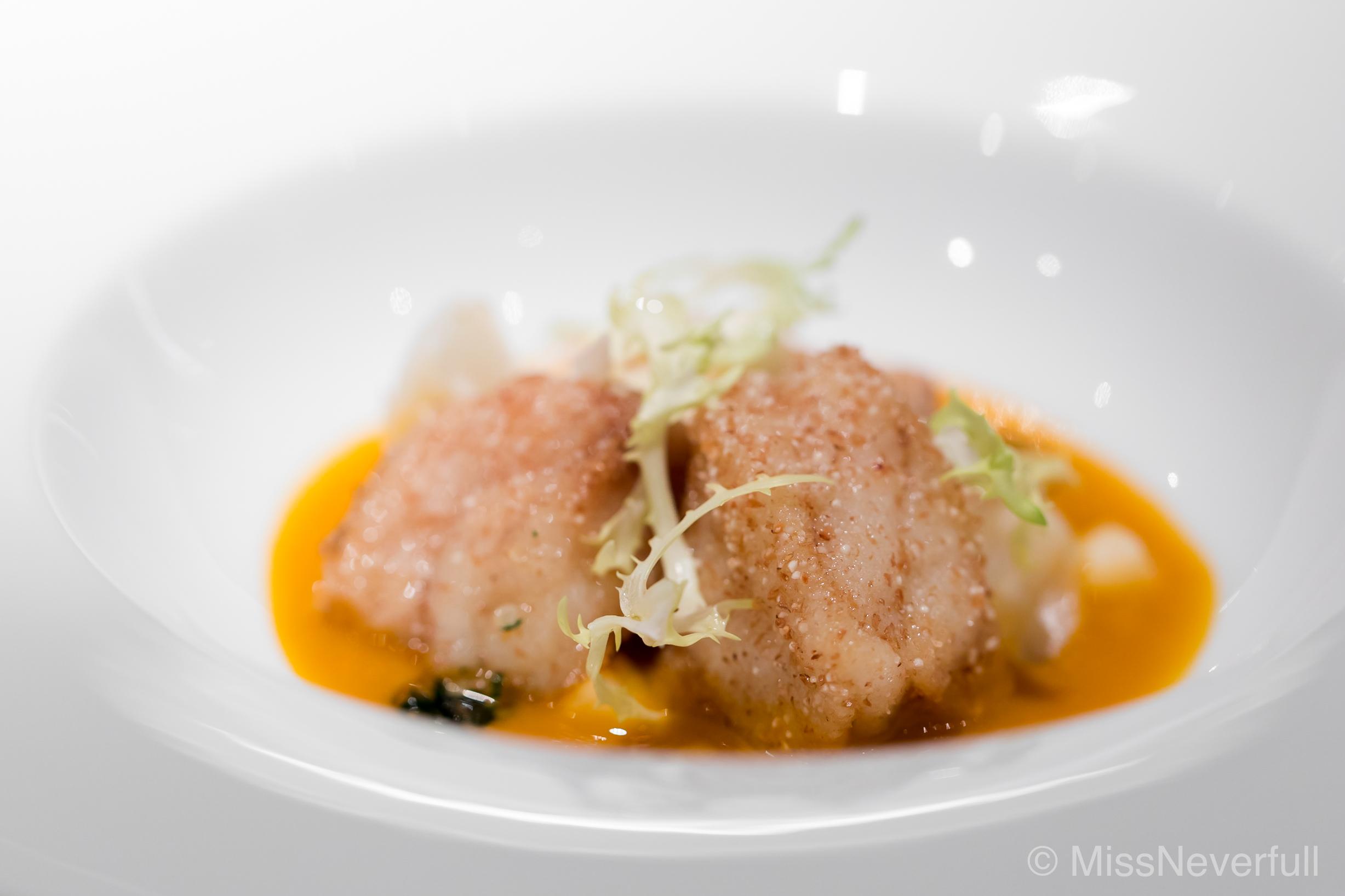 4. Deep-fried Ankimo (monkfish) & lily bulb