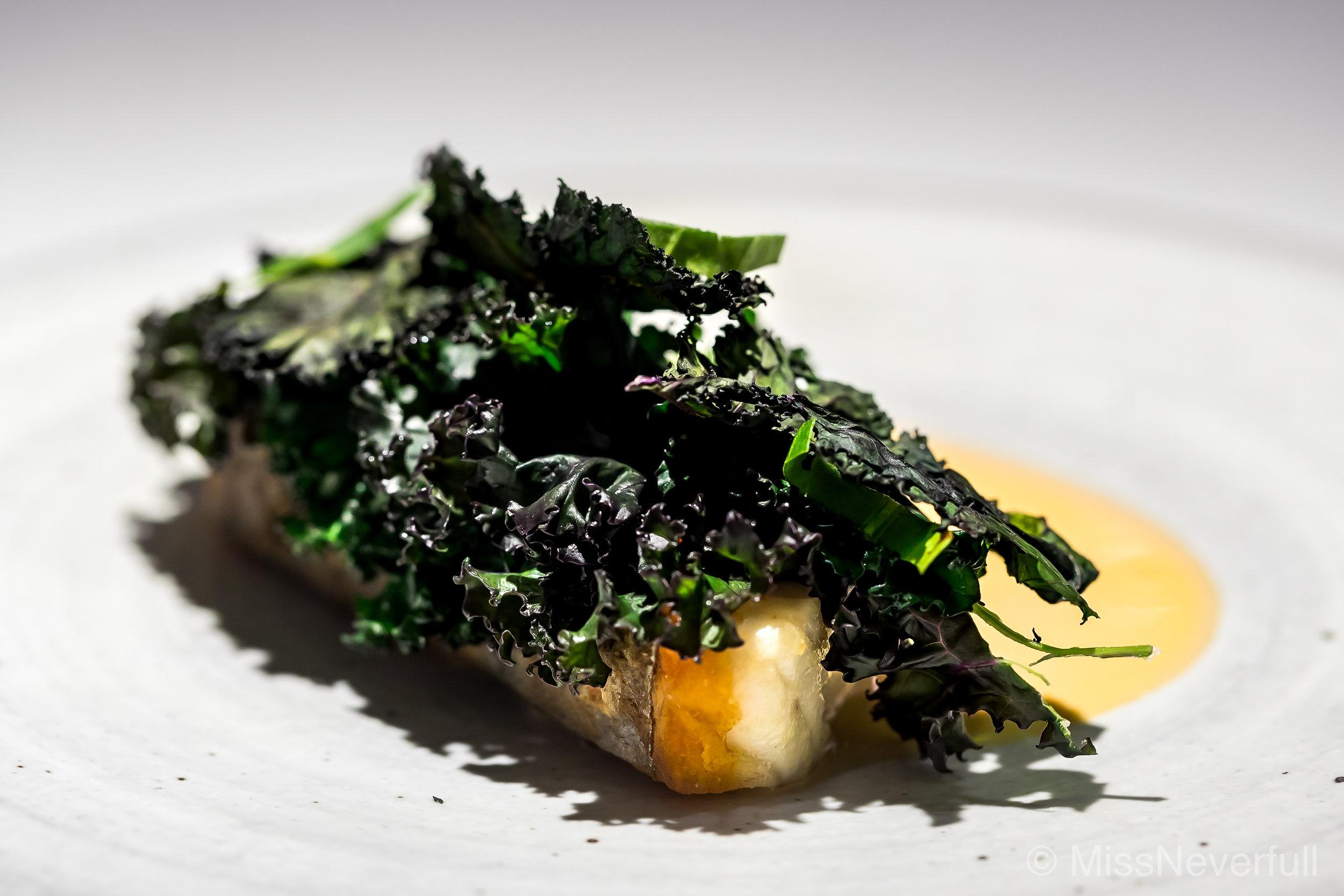 3. Spanish mackerel from Wakayama and burnt kale