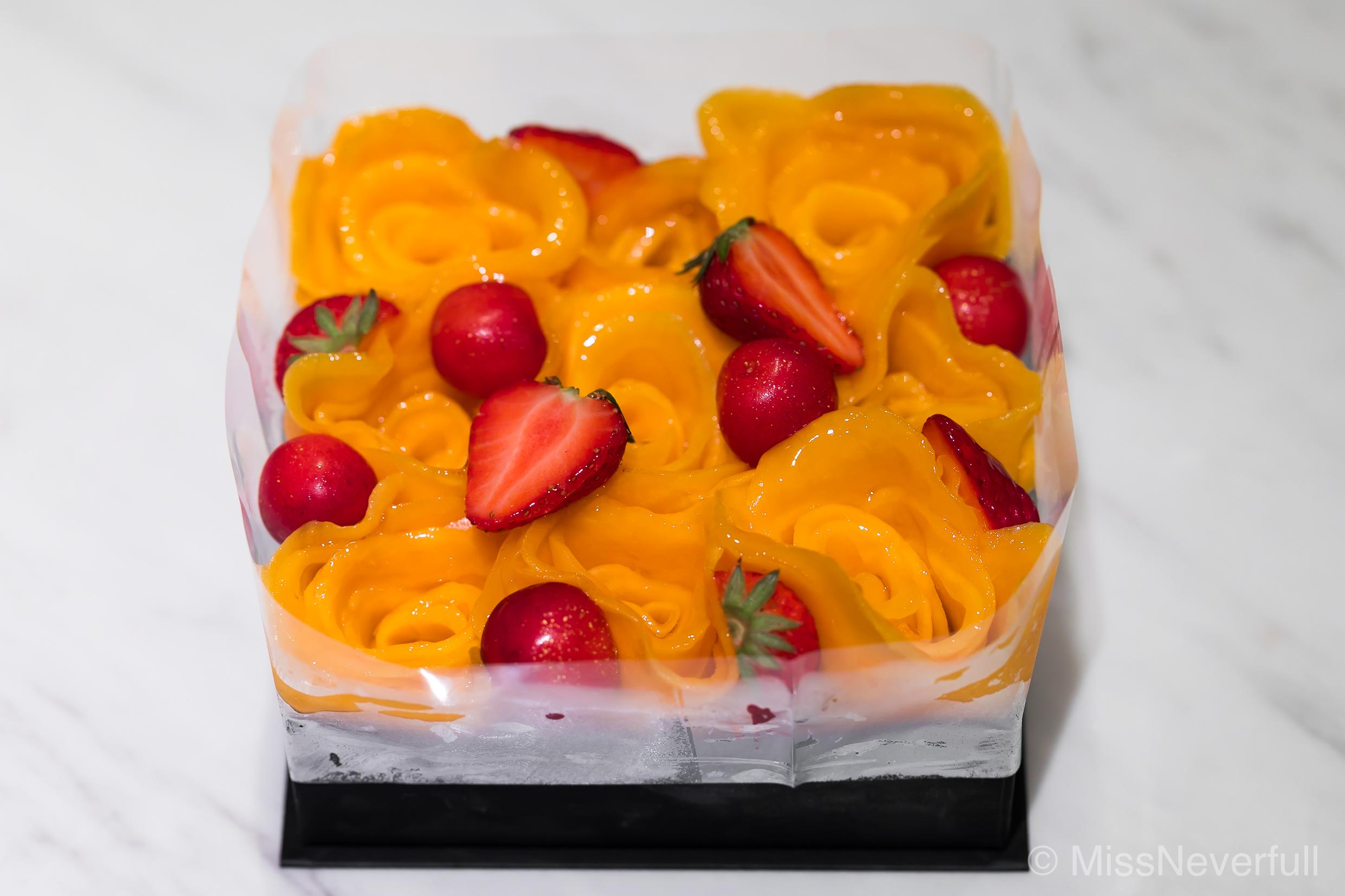 Mango 'Rose' Cake (May 2017)