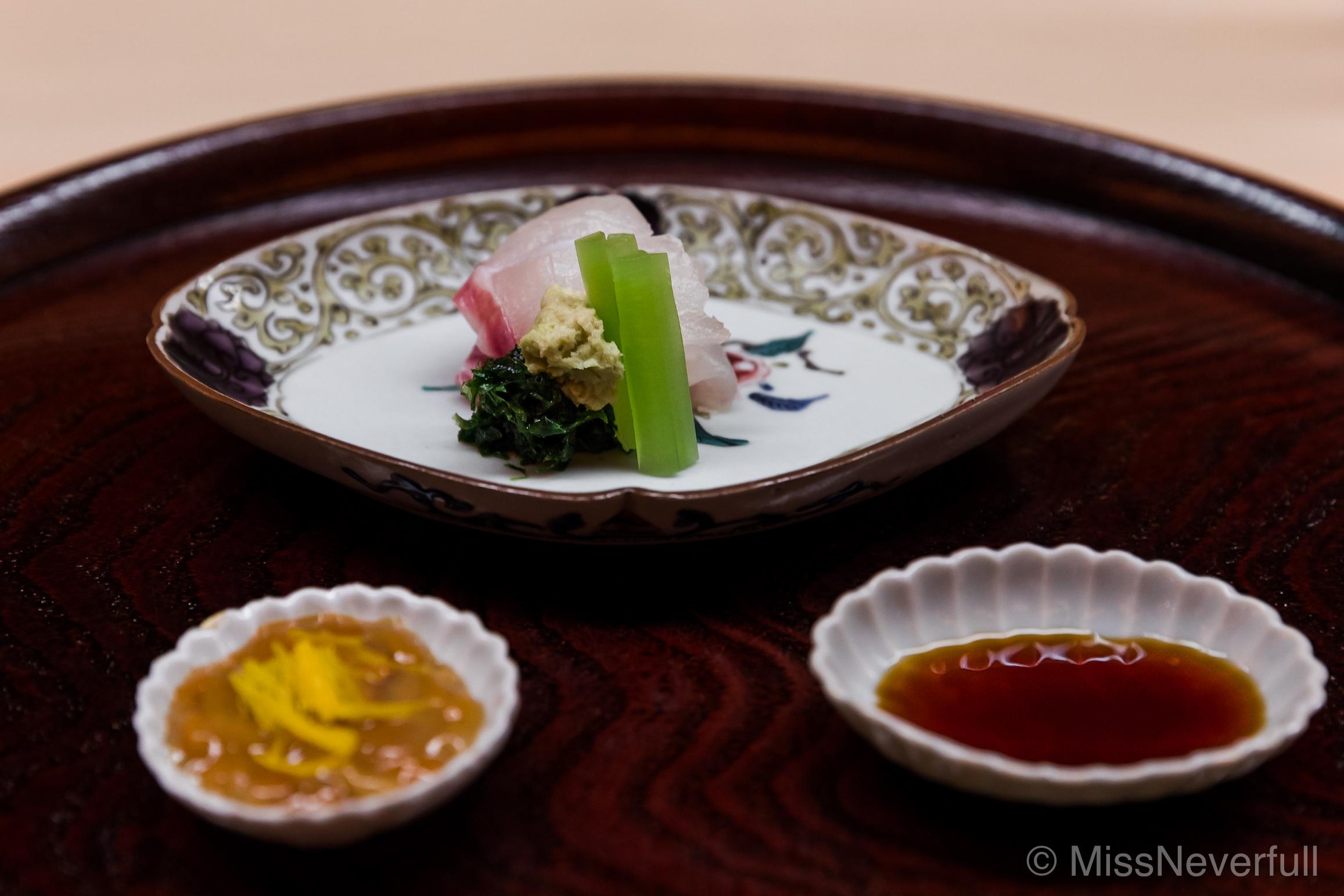 2. Tai, Konowato and yuzu, soy sauce