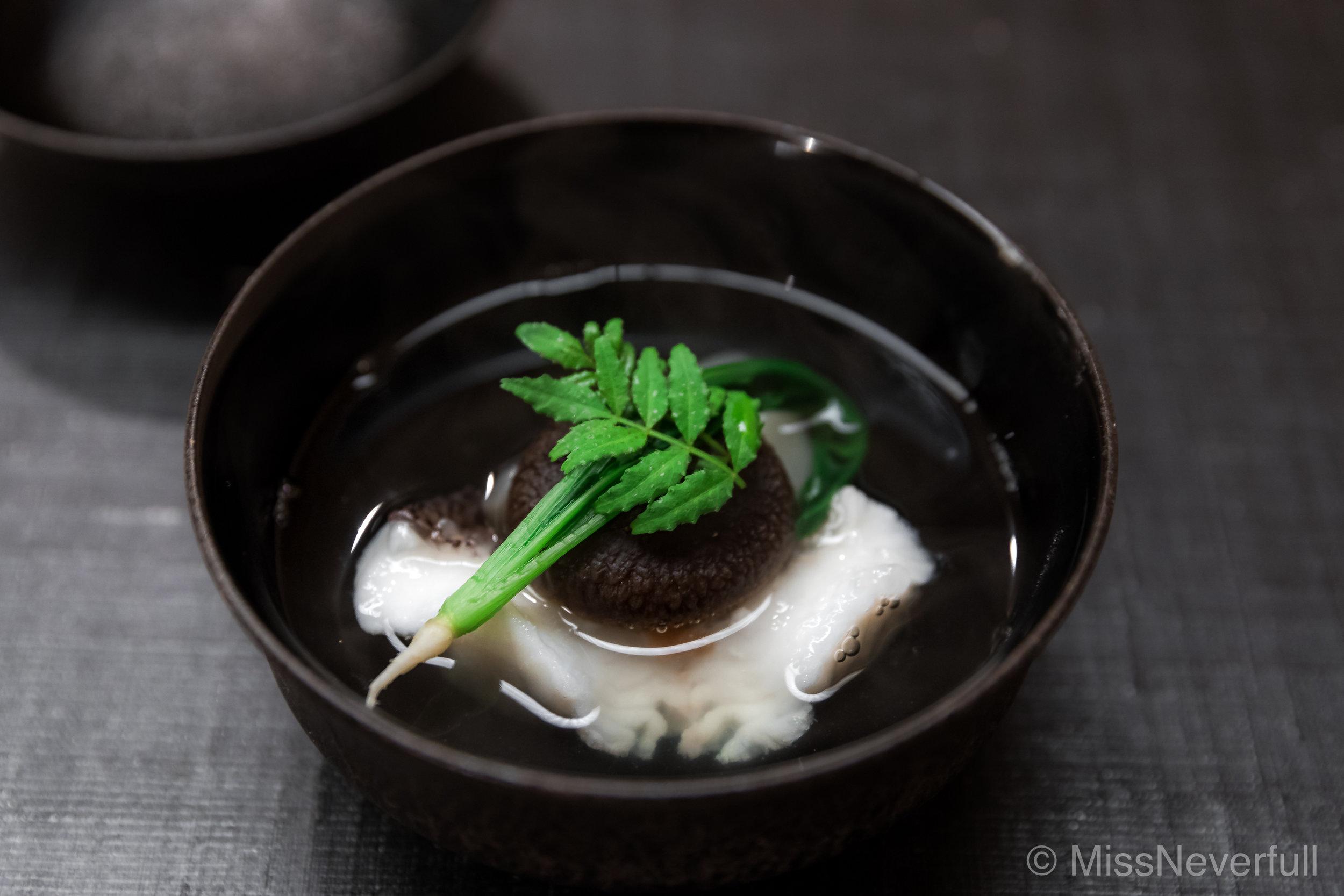 Owan: Higedara, turnip and shitake mushoom