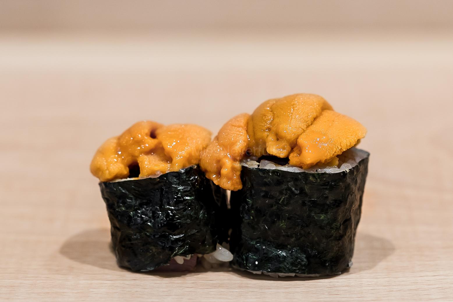 10. Toro maki topped with uni