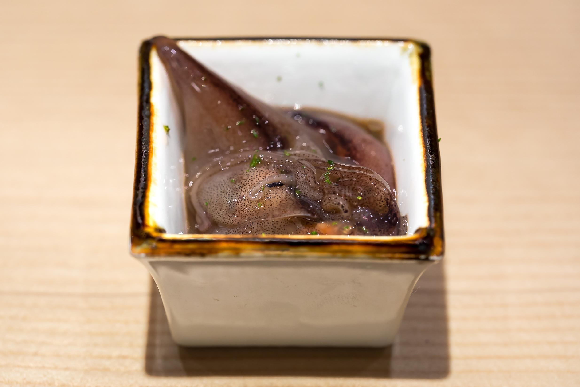 8. Hotaru ika and shari (firefly squid)