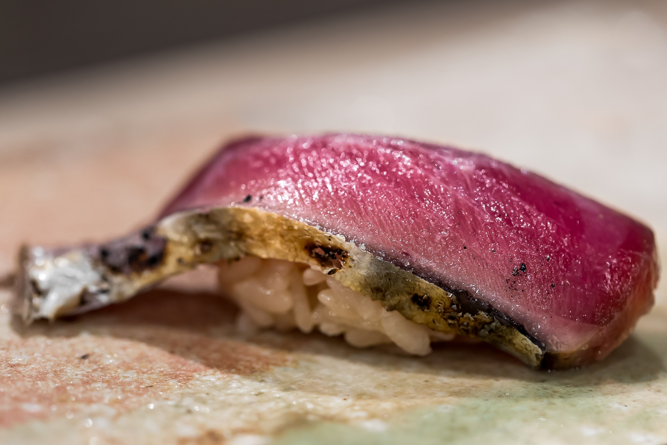 4. Katsuo with shio 千葉 - freshly grilled at the counter, the skin was so crispy and delicious even this (May) was not the best Katsuo season
