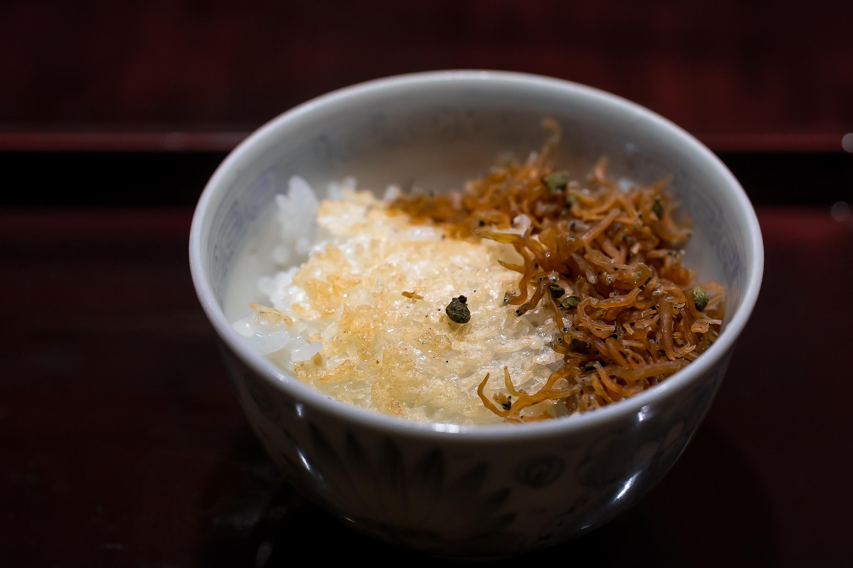 8.3 Rice crusts (おこげ) served with Jyako.
