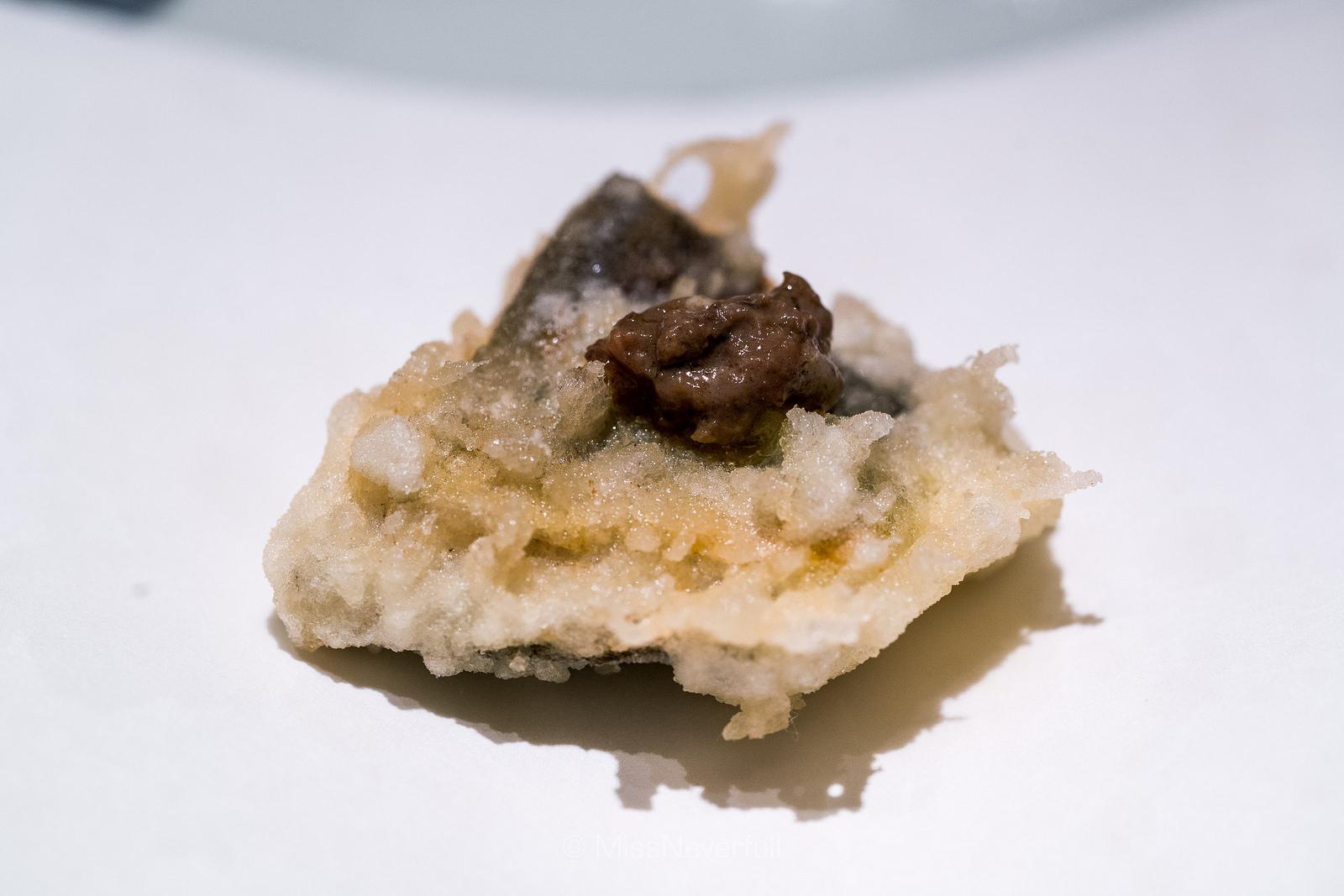 6. 鮎 (Ayu) Sweet fish with liver sauce