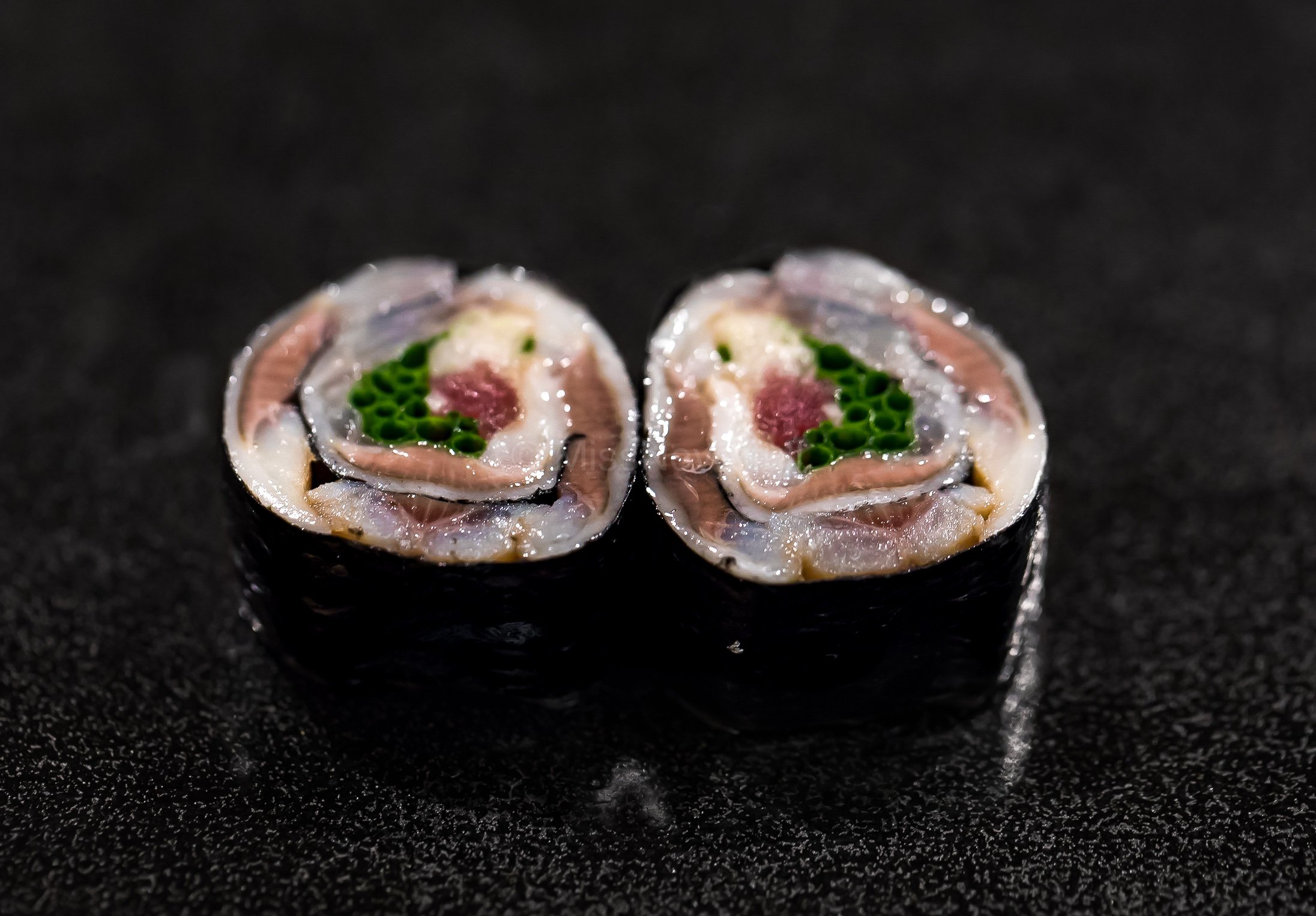 4. Iwashi maki (with gari, myoga and oba leaf)