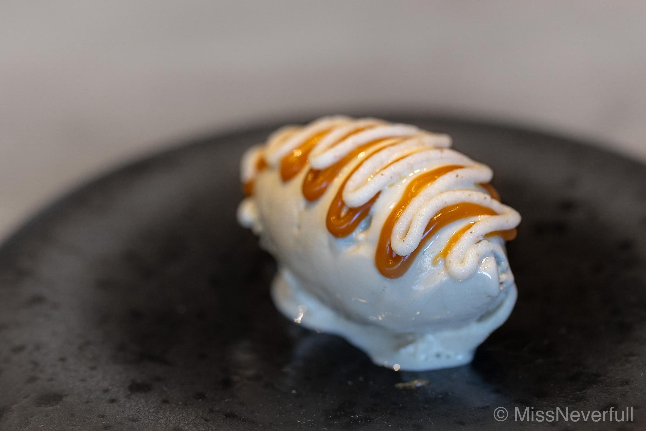 7. Fukinoto Ice cream and caramel sauce