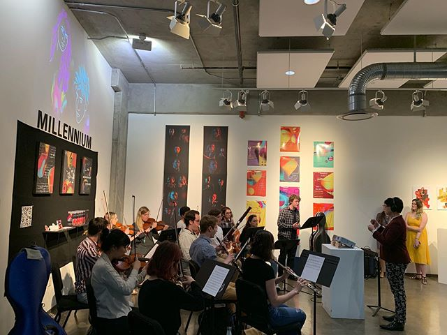 A shot from Millennium's last performance at the Lamar Dodd School of Art. . . . . . . . #indieorchestra #millennium #millenniummovement #poporchestra #musicians #music #atlantamusicians #athensmusic
