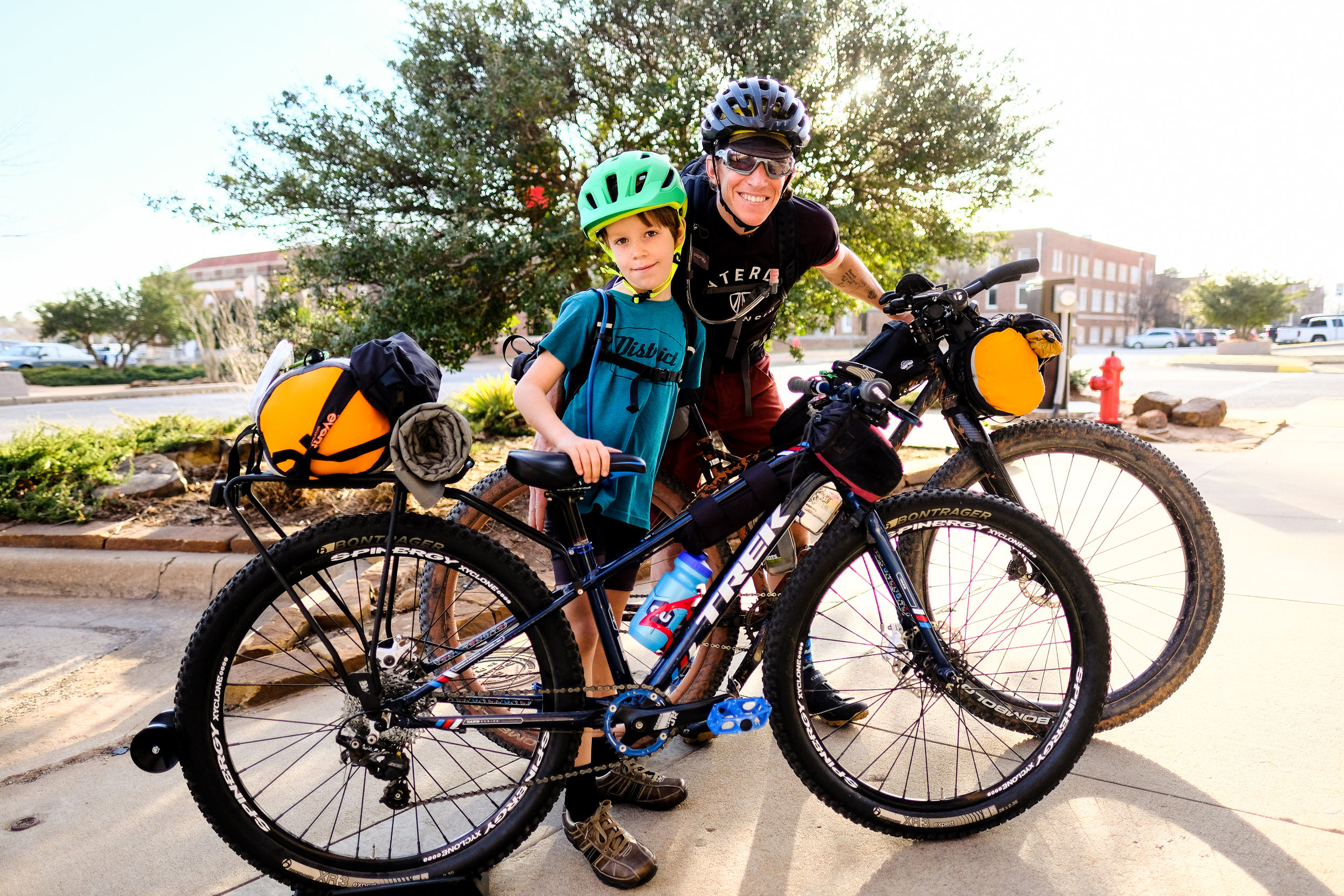 Kids can bikepack too! Seth Wood and his son Mark headed out for an overnighter. Check out Mark's bivouac setup!