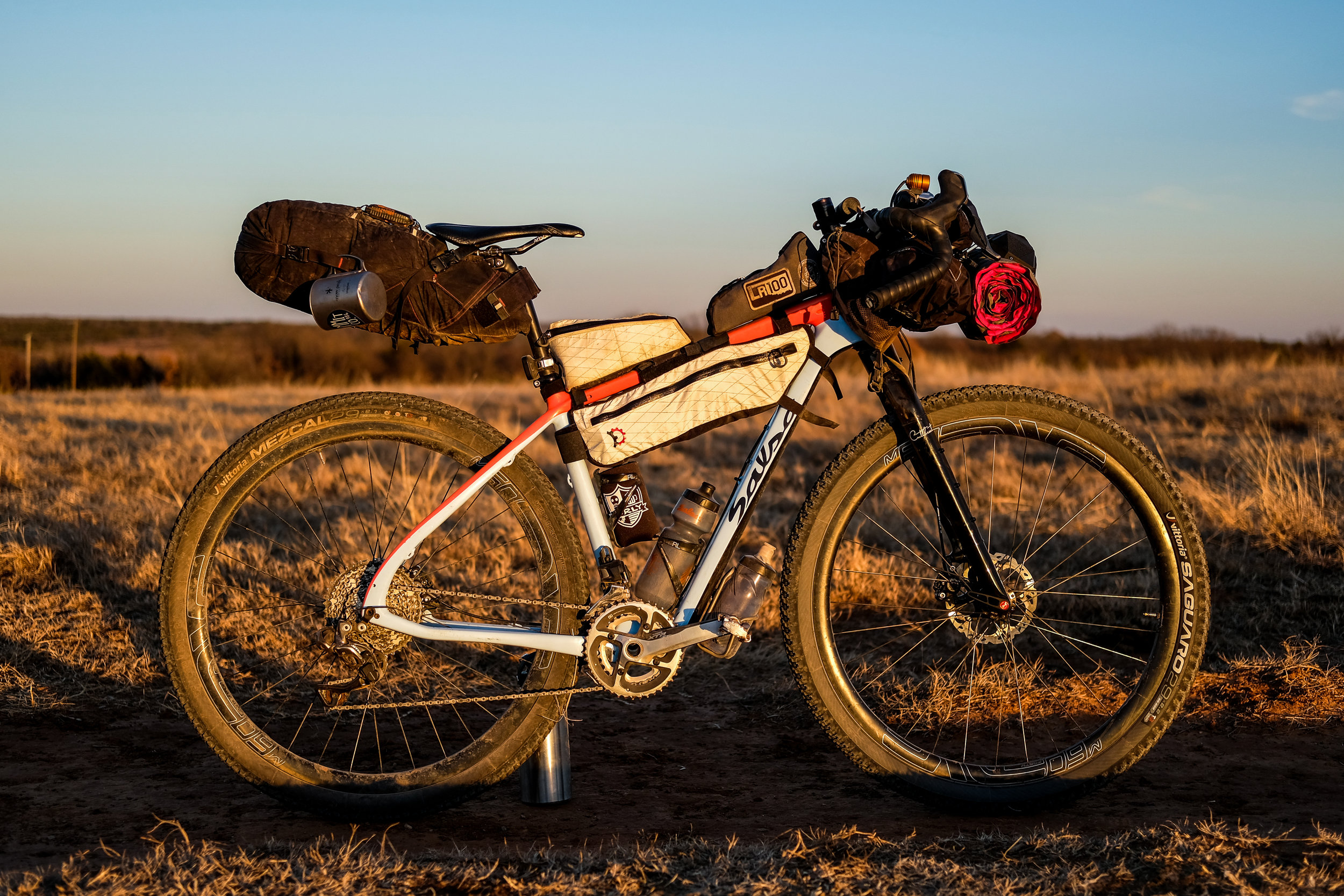 @unlearnpavement Bobby Wintle's Glamp-Mobile Salsa Cycles Cutthroat.