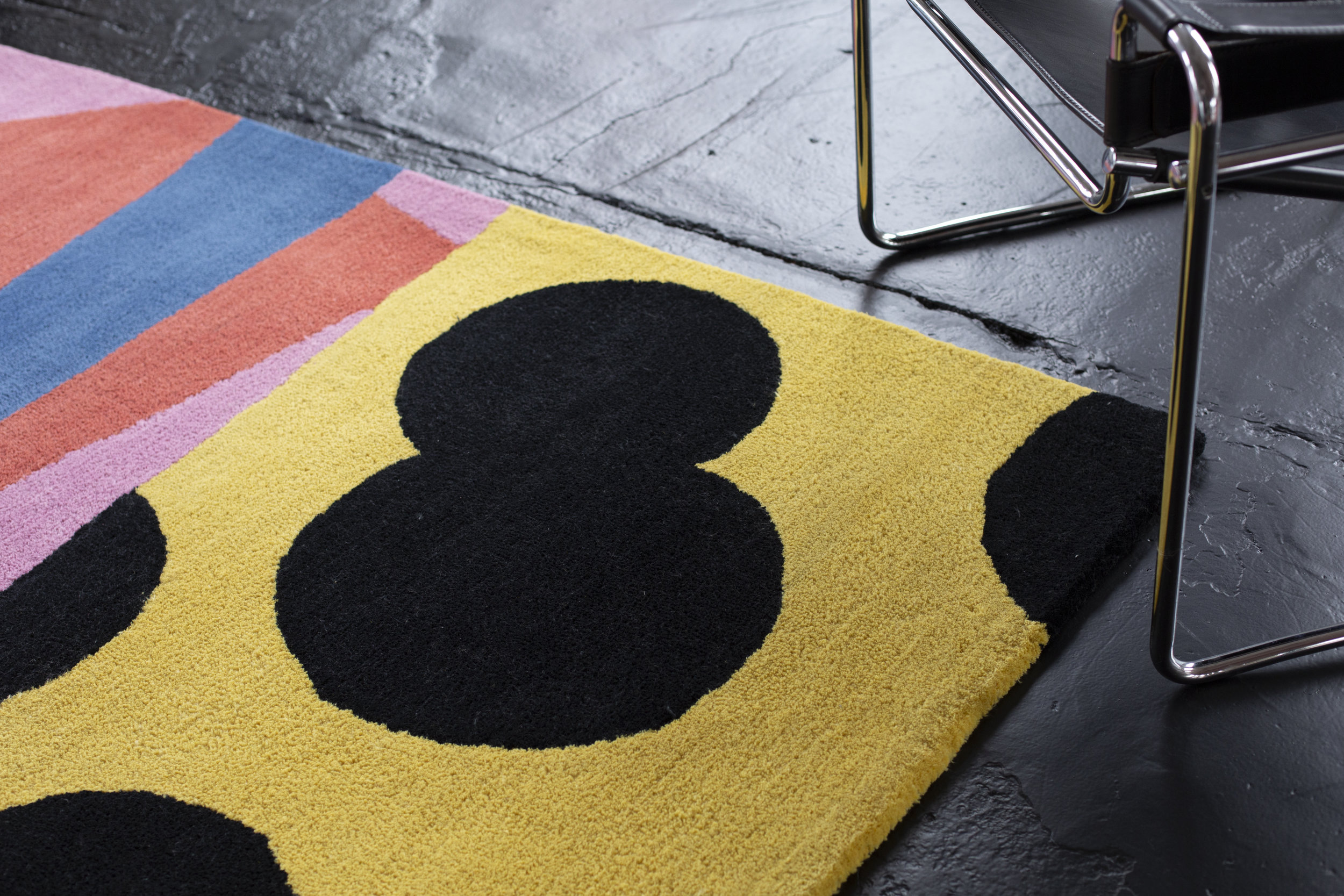 Limited edition  'Loose Ends'  P.E.T. Rugs for Knot Collective