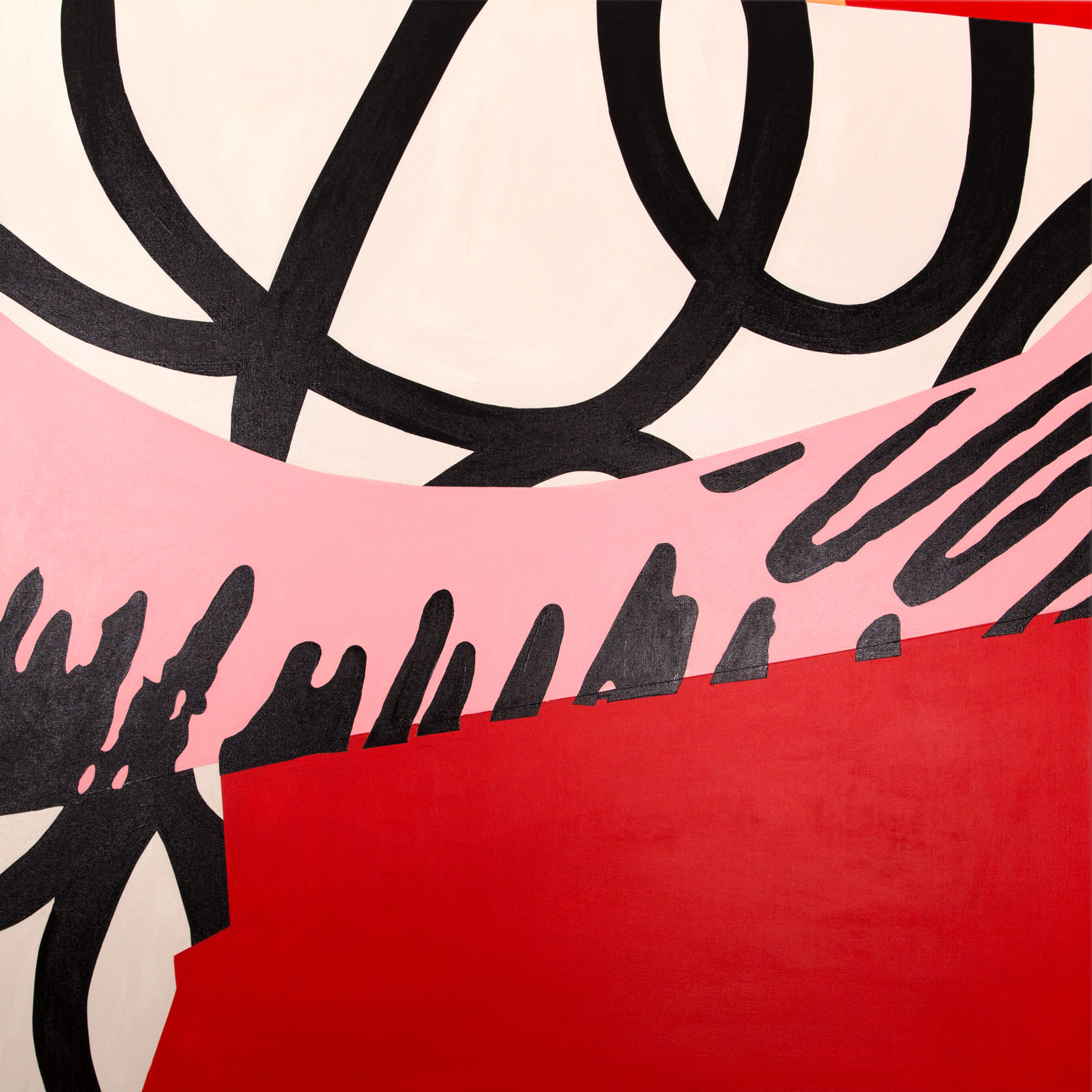 Loose Ends 06 Acrylic on canvas. 121x121cm