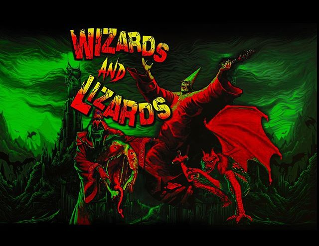 """""""Wizards and Lizards"""" 2018 by @victorioustiles."""