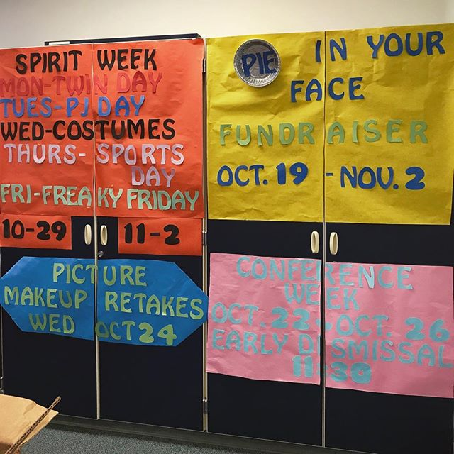 Incase you haven't heard about the upcoming events. I snapped a picture for you all of the amazing reminders in the office 😉🙌 HRMS is so Awesome! I can't wait for spirit week!