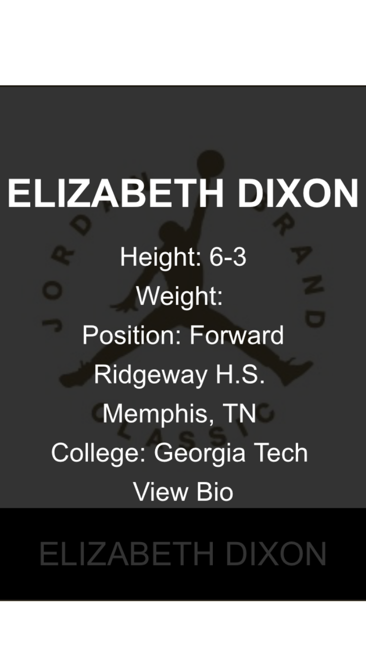 Elizabeth Dixon - After many accolades have rolled in we are excited to announce that Liz has been named to the Jordan Brand Classic.