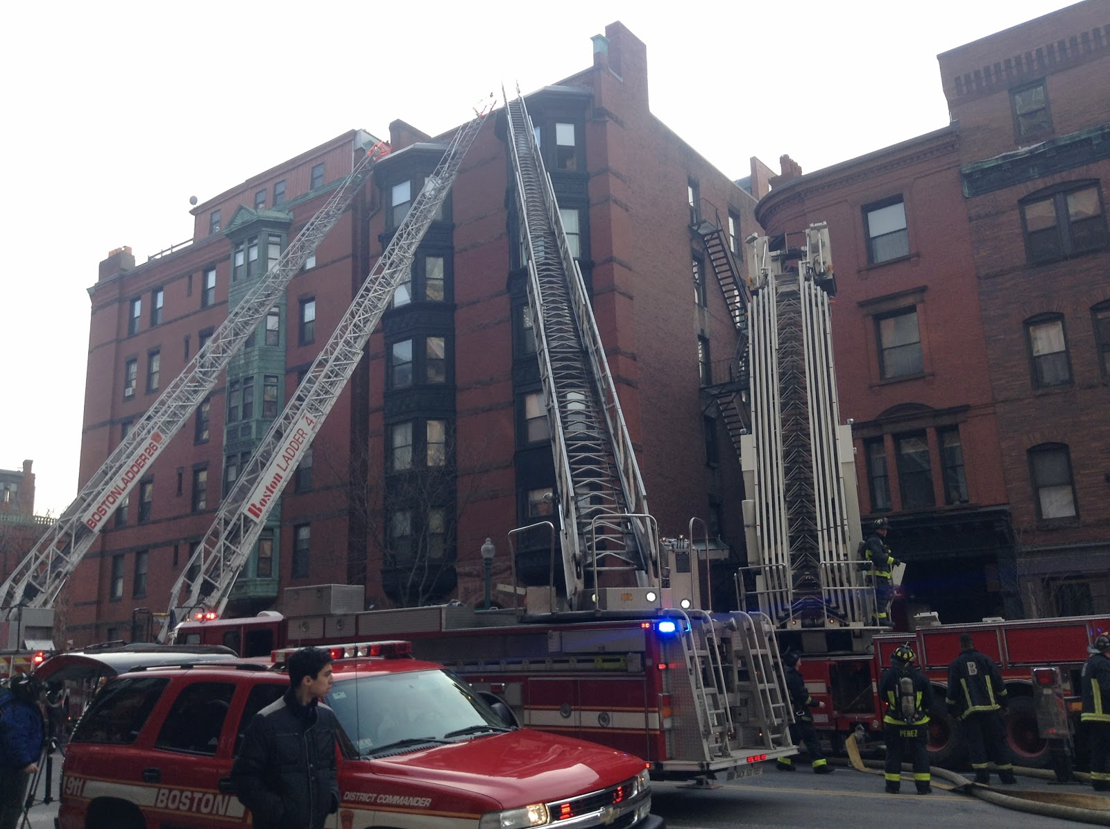 This was a 7-alarm fire in Back Bay in February that totaled the building, evicted 40 people, caused $2.5 million dollars in damage and sent a fire fighter to the hospital. Don't smoke and don't throw your butts in the trash, dummies.