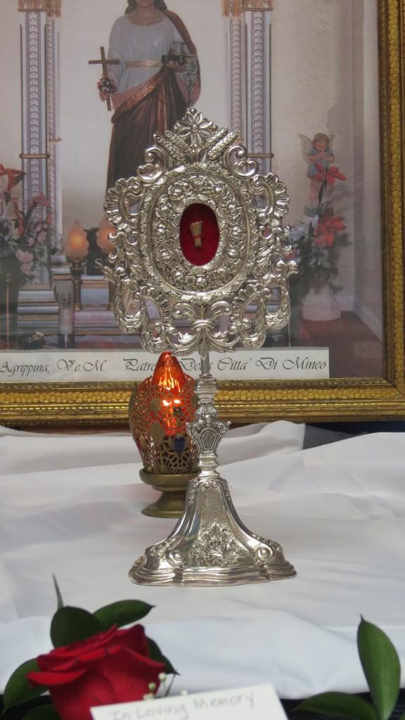 La reliquia della Santa Agrippina da Mineo