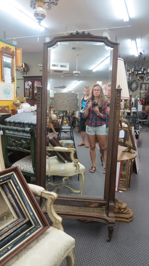 Antiquing with your hosts, Sunburn and Camel Toe