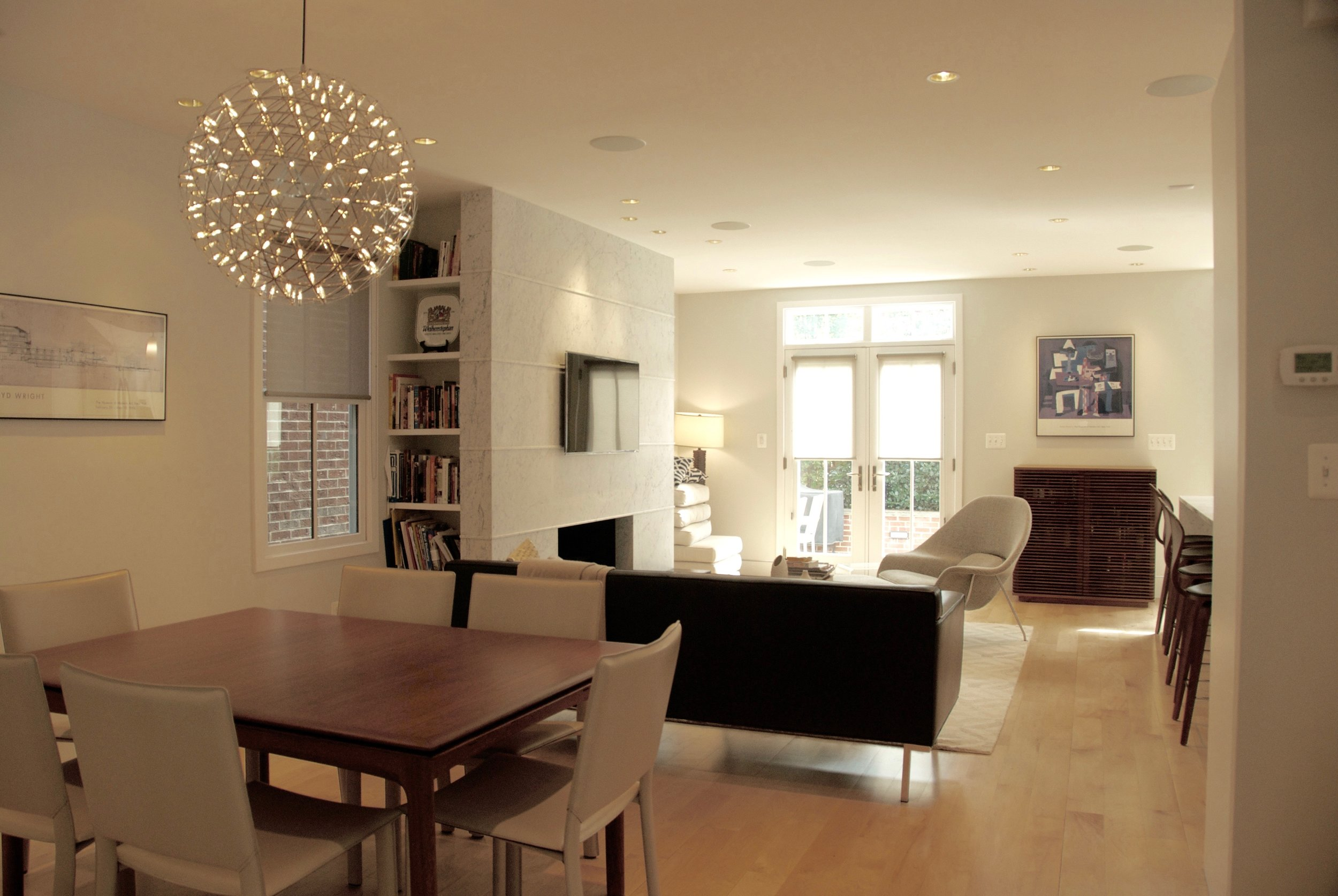 Living Room Interiors for a New House in Alexandria, VA