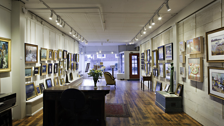 Sylvan Gallery offers an extensive collection of paintings by contemporary masters. 49 Water St.