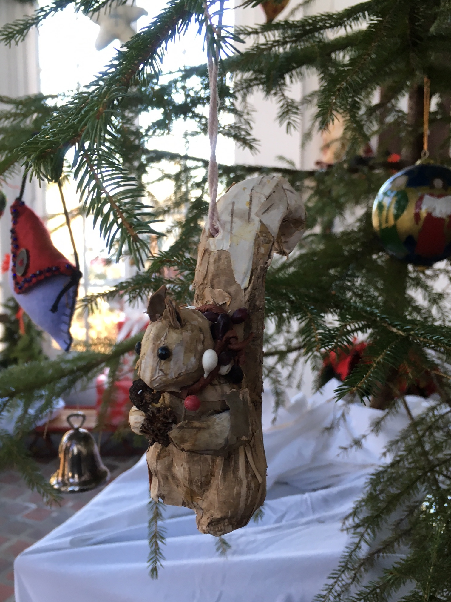 The Nickels-Sortwell House was decked out in boughs of holly and other seasonal creatures!