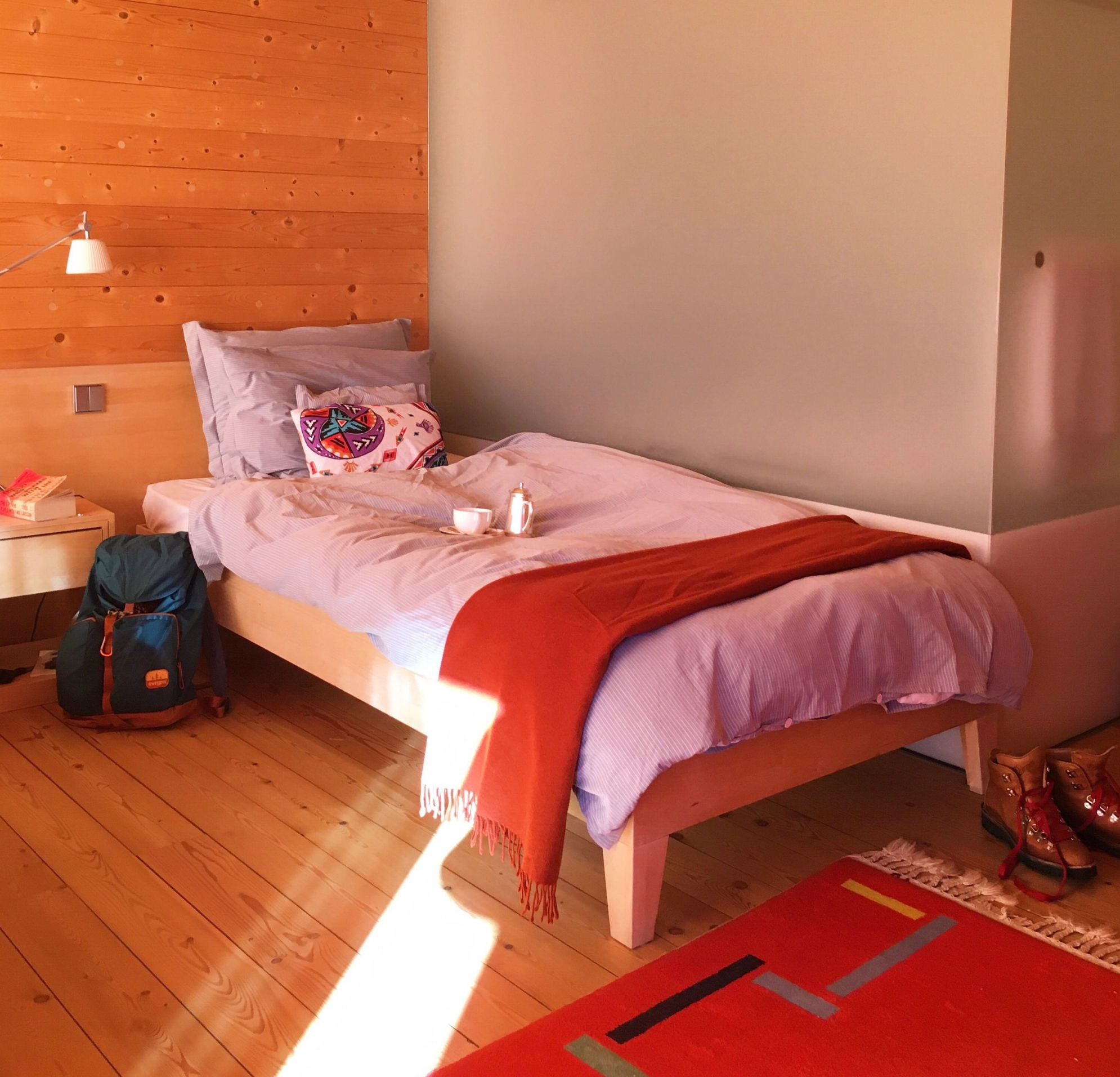 The lovely little room at Seiser Alm Hotel... and the coffee they brought to my room :)