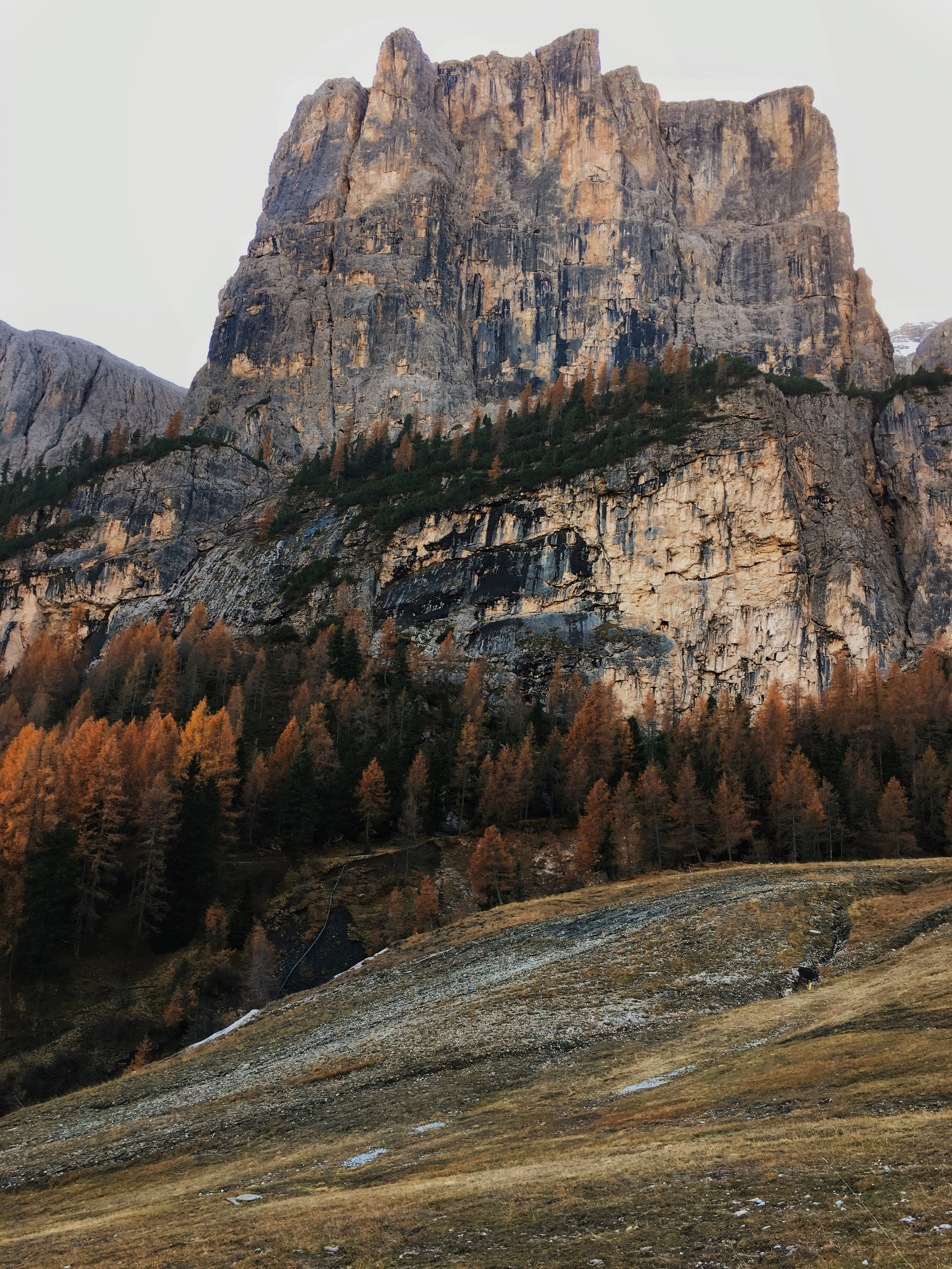 Somewhere in the Dolomites, just driving around and reveling in the beauty!