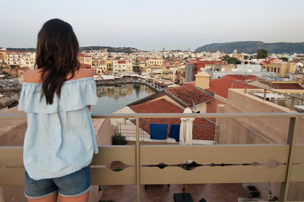 Enjoying the rooftop at Casa Delfino