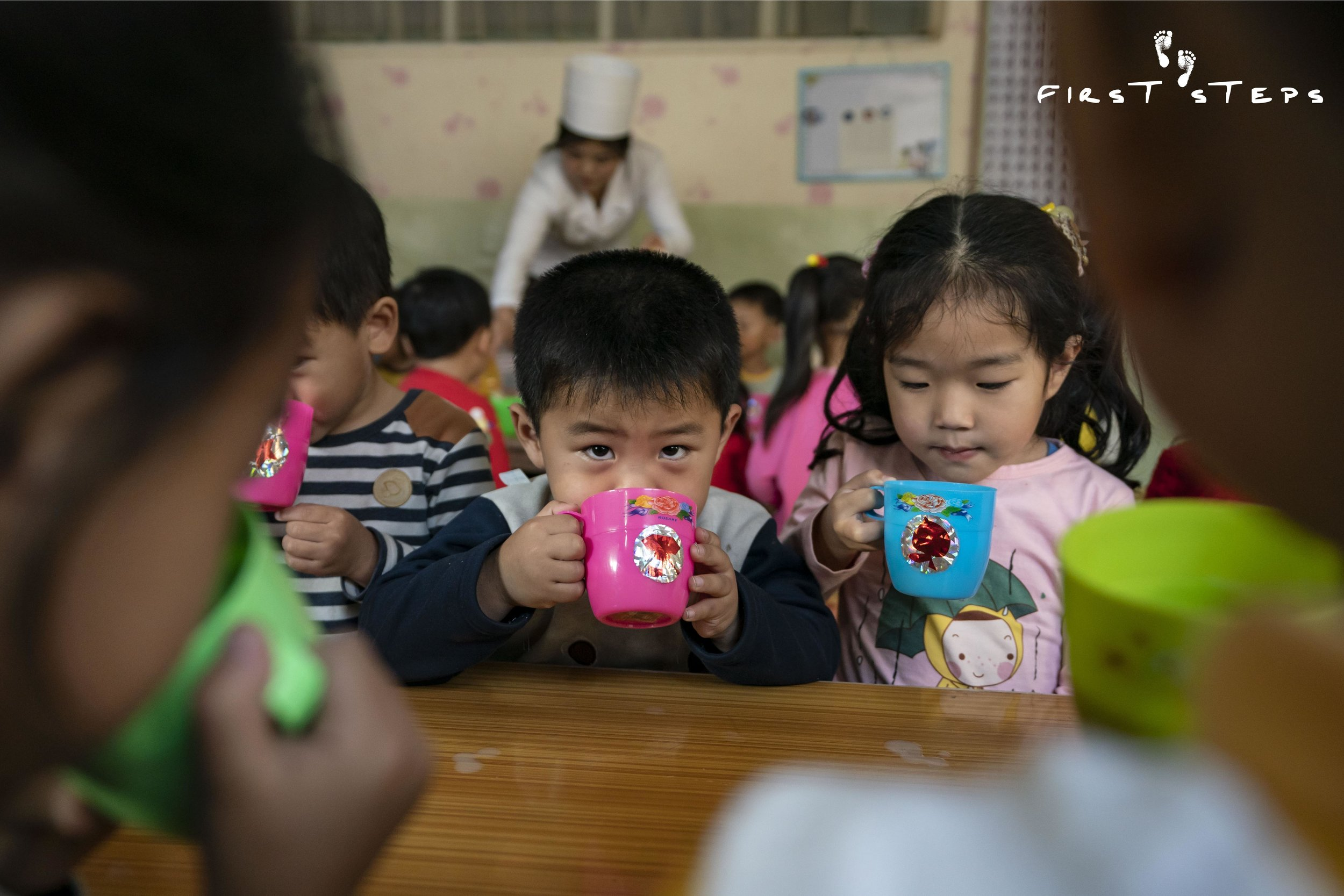 """The children like the soymilk and drink it well,"" said Choe Kyong-Ok, who oversees the inventory and supply of soymilk at the daycare."