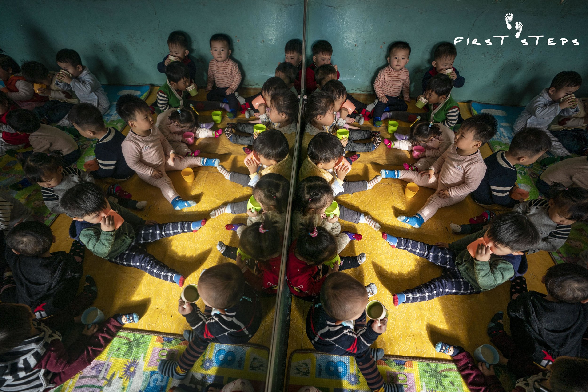 100 children aged between one to 10 years old attend the Ryongsu Daycare.