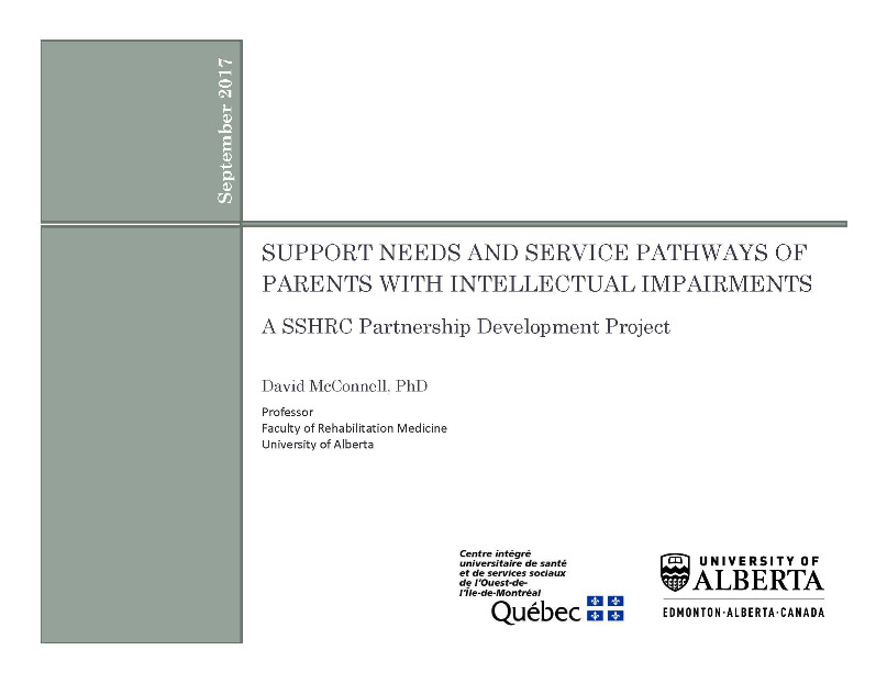 Support Needs and Service Pathways: Project Overview