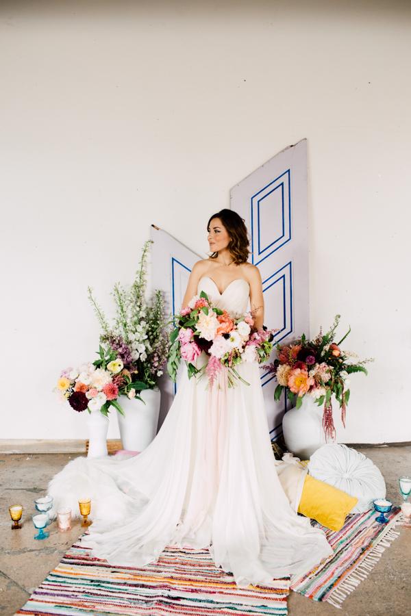 bohemian warehouse wedding inspiration