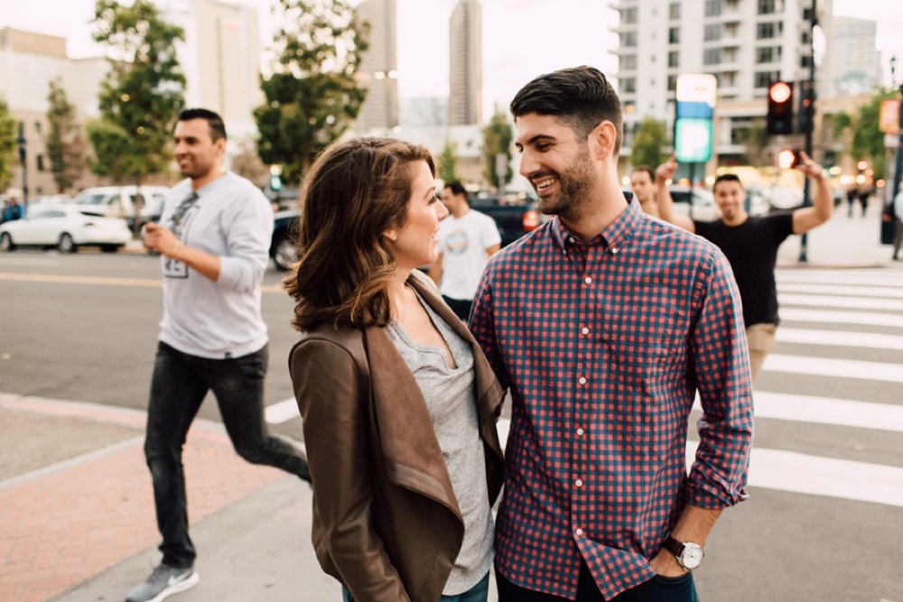 Downtown San Diego Engagement | www.plumandoakphoto.com