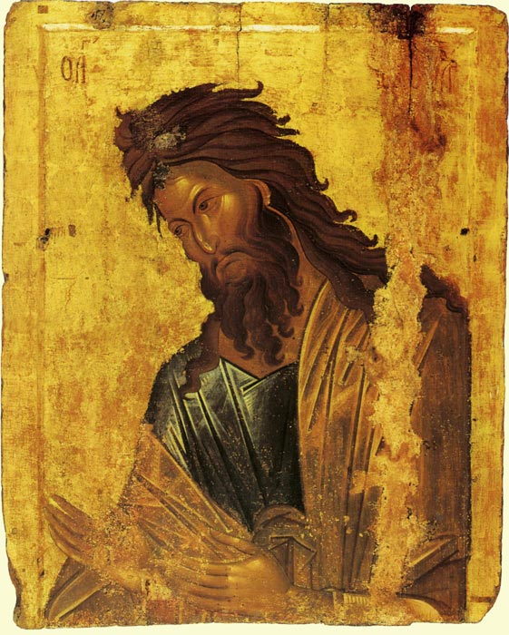 Andrei Rublev famous icon of John the Baptist.