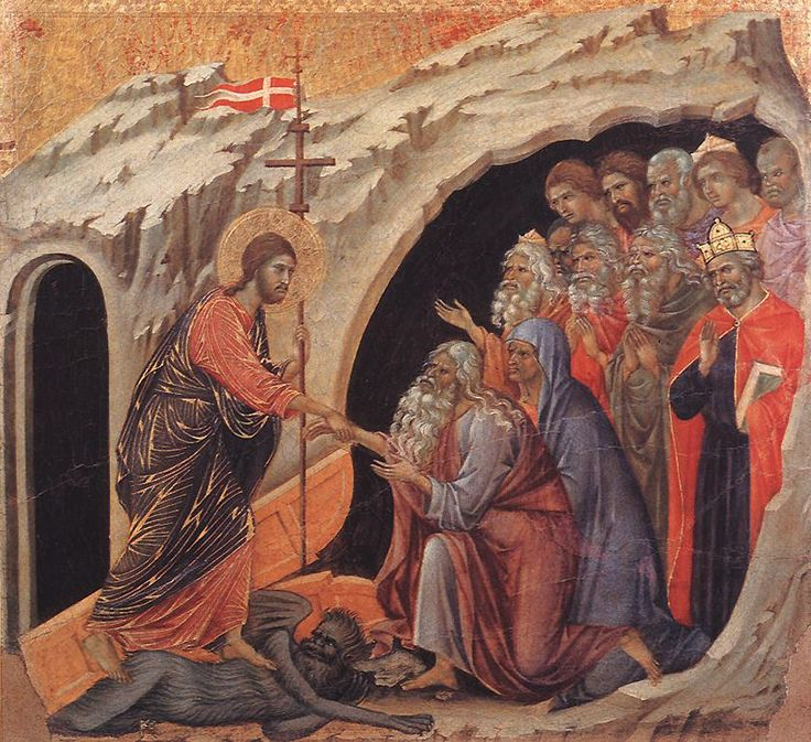 The Harrowing of Hades and Christ's foot on the devil