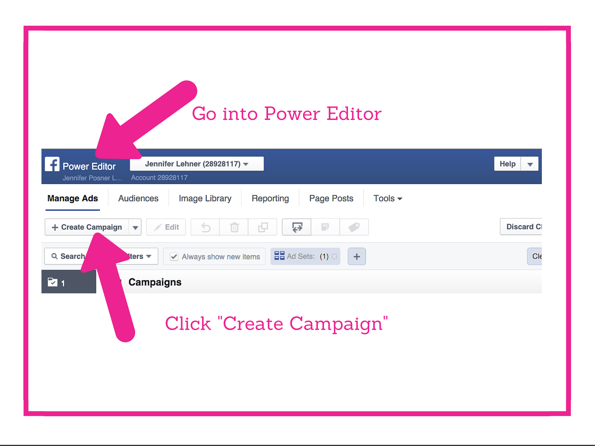 Facebook Lead Generation Ad Step 1