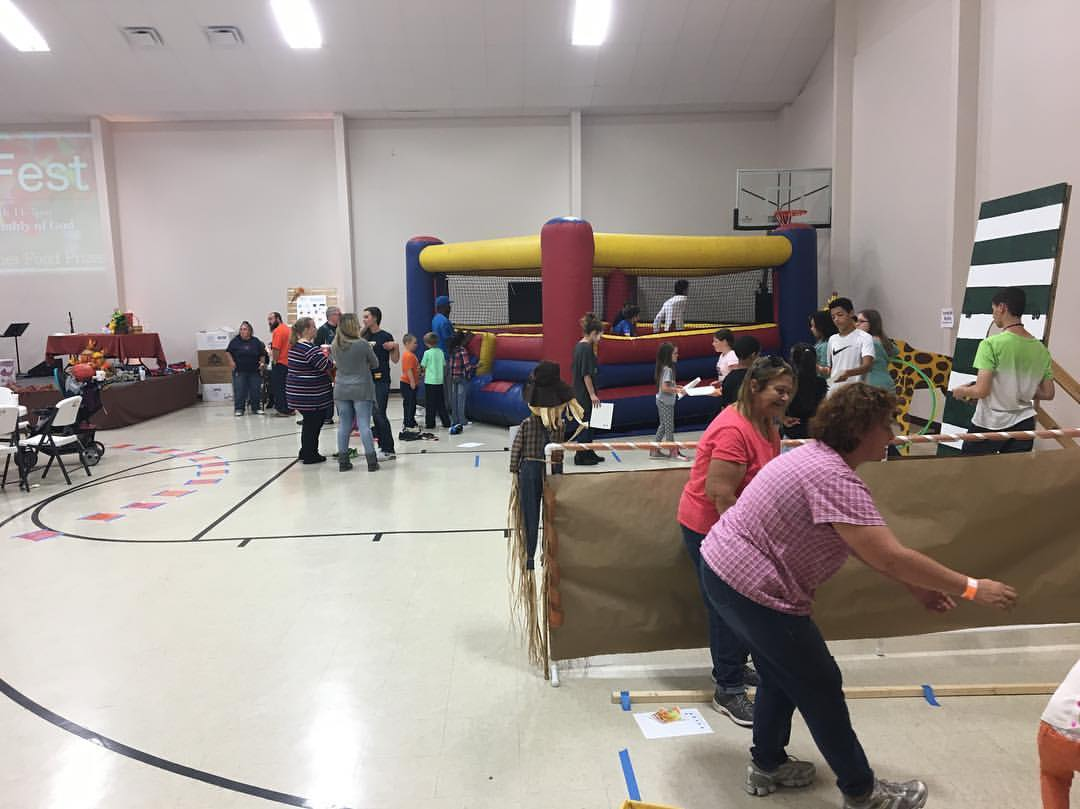 Fall Fest - October 2016   A free Fall outreach to the community with blowup games, giveaways, food, carnival games, and more.