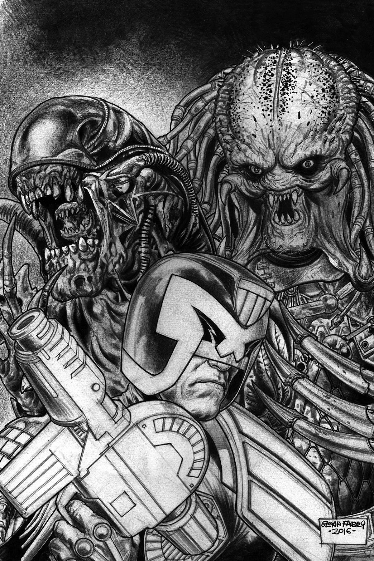 PREDATOR VS JUDGE DREDD VS ALIENS 4 FABRY PENCILS VAR.jpg