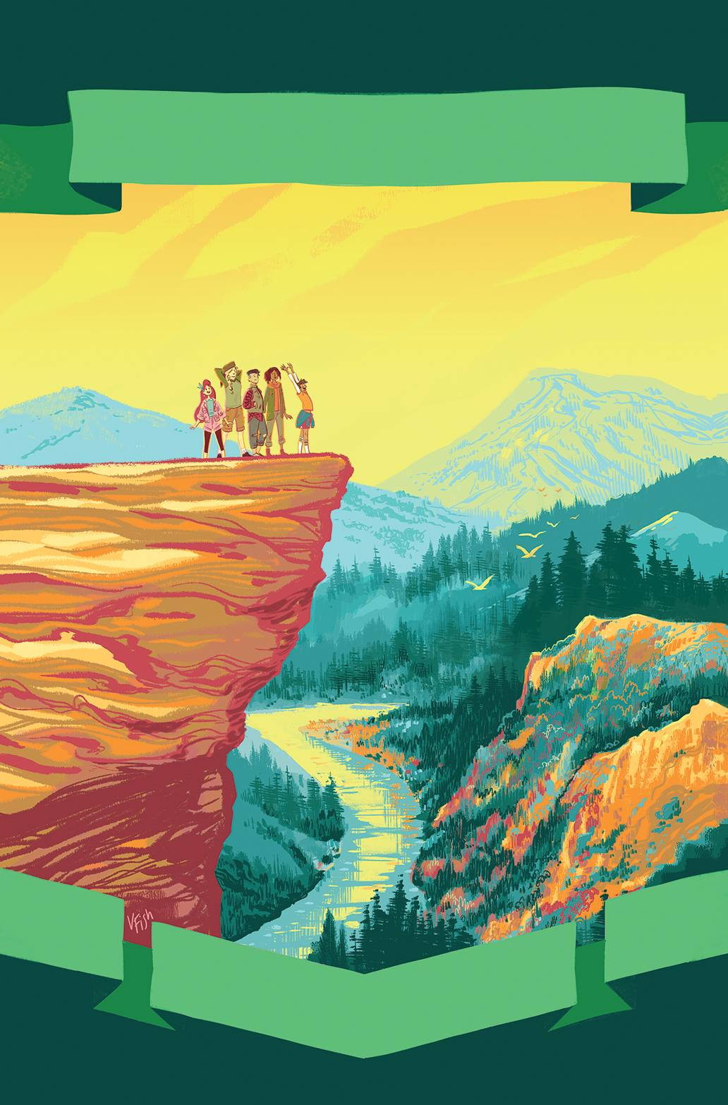 LUMBERJANES SOMEWHERE GREEN 1 PREORDER FISH VAR.jpg