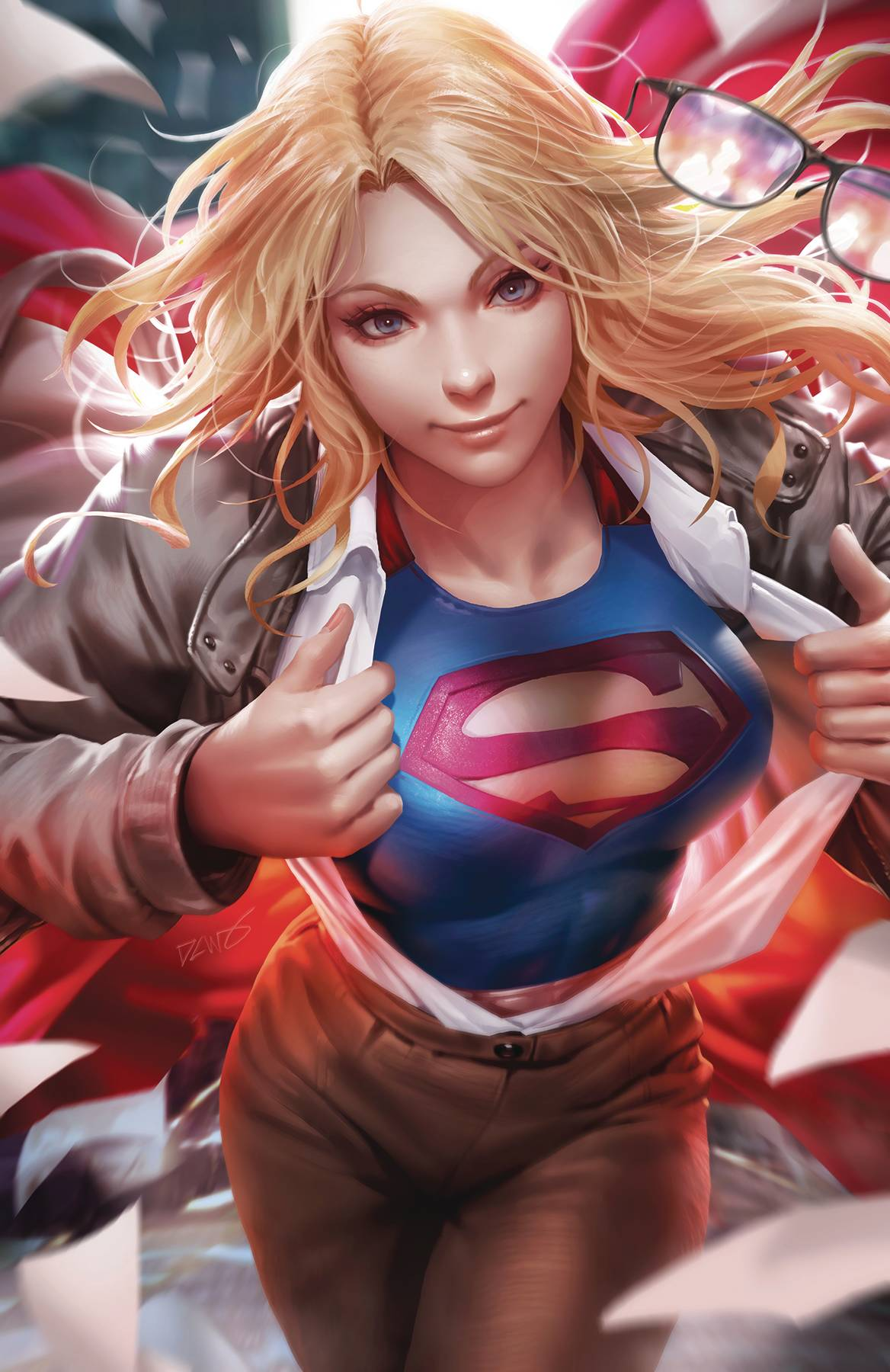 SUPERGIRL 36 CARD STOCK VAR ED YOTV.jpg