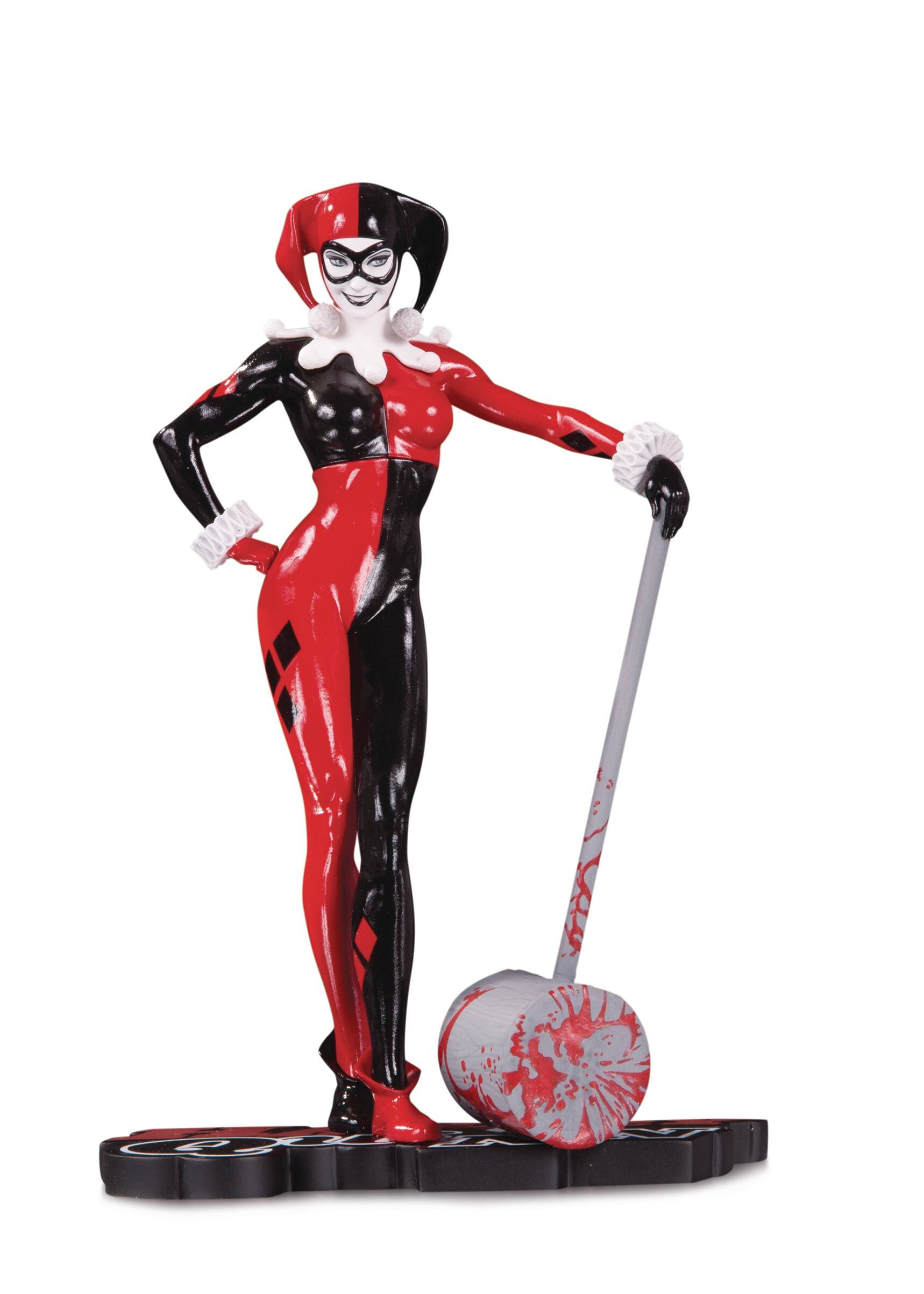 HARLEY QUINN RED WHITE AND BLACK STATUE BY ADAM HUGHES.jpg