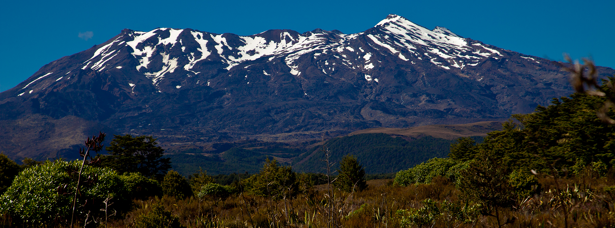 Chateau Tongariro National Park with Mount Ruaperhu