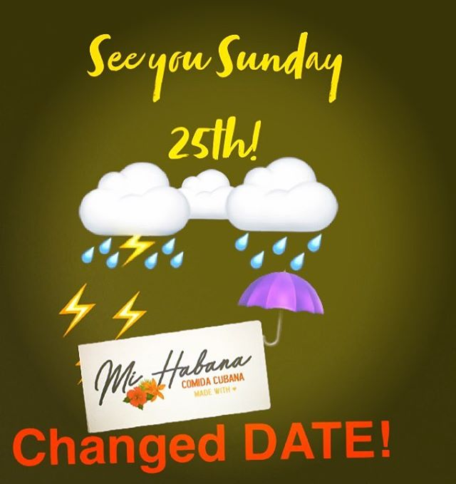 Due to inclement weather, the event will be POSTPONED to SUNDAY 25th! ⛈ Sorry for the inconvenience!! 🙏🏼Stay dry and safe! 💛 See you Sunday CUBAN SANDWICH, Ropa Vieja and Cuban Coffee! ☕️ ONE DAY ONLY!!!🚨 . . . . . . . . . #lunchdate #lunchdallas #cubanintexas #cubanfood #dallascuban #dallasbaby #dallas #dallascubanfood #cubanintexas #cubansandwichdallas#cateringdallas @dallasfarmersmarket