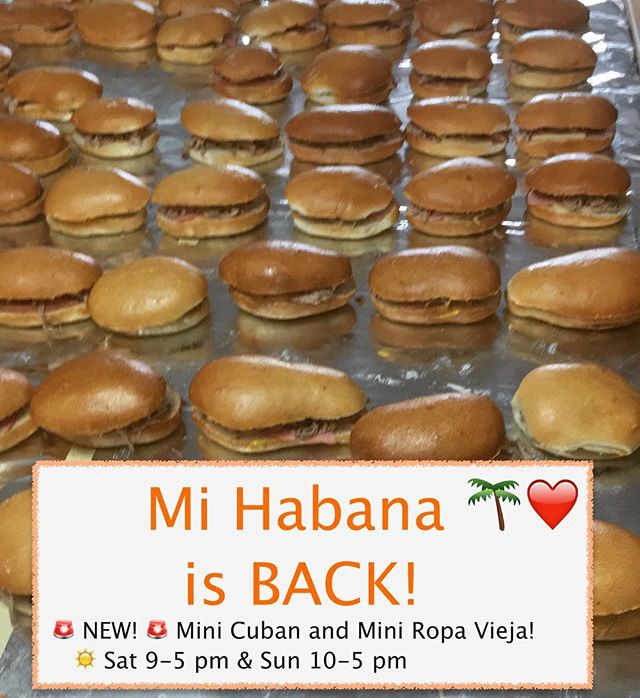 🚨 Dallas🚨 WE ARE BACK! 🍔🍹We are sorry we have been gone for so long! 👩🏻🌾 Thank you for all your support and love! ❤️See y'all Saturday 9-5 pm and Sunday 10-5 pm ☀️Bring all the family!💕 @dallasfarmersmarket  NEW🙋🏻 Mini CUBAN and Mini Ropa Vieja! . . . . . . . . . #lunchdate #lunchdallas #cubanintexas #cubanfood #dallascuban #dallasbaby #dallas #dallascubanfood #cubanintexas #cubansandwichdallas#cateringdallas#dallasfarmers#dallasfarmersmarket