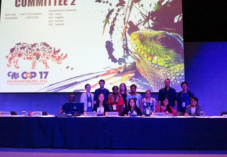 IFAW Delegates exploring CITES CoP17, Johannesburg, South Africa.