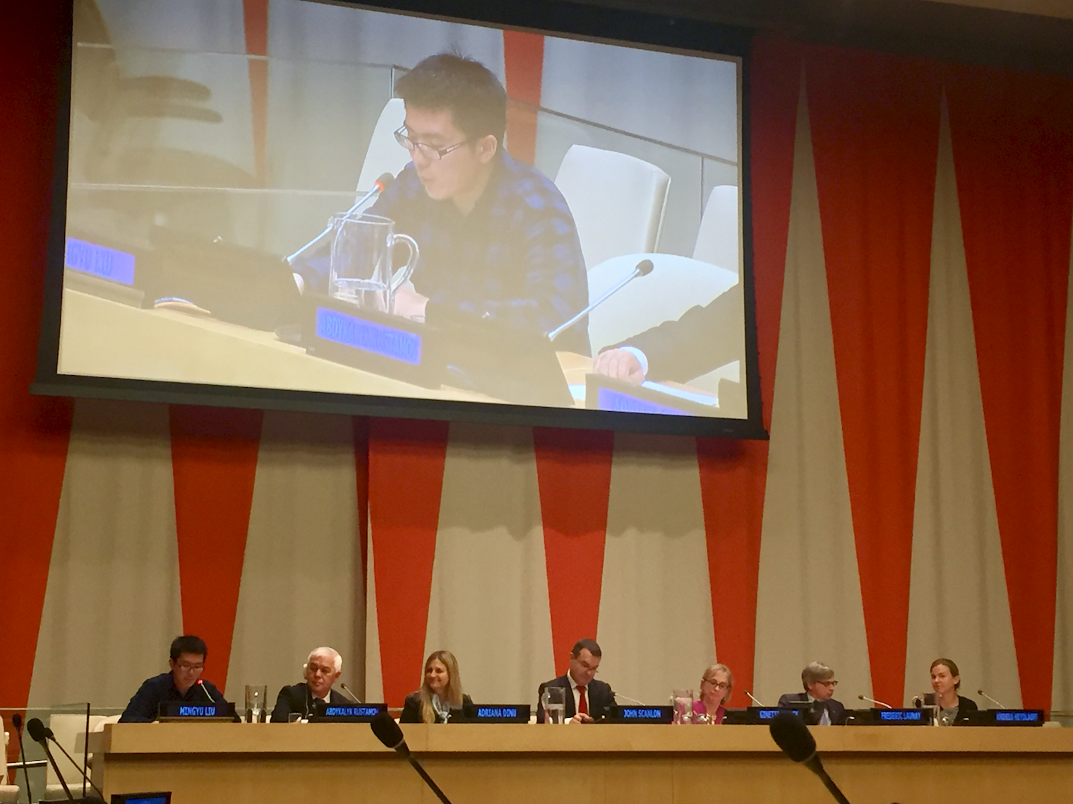 Mingyu Liu spoke with passion about his love for snow leopards and his research on the World Wildlife Day UN panel.