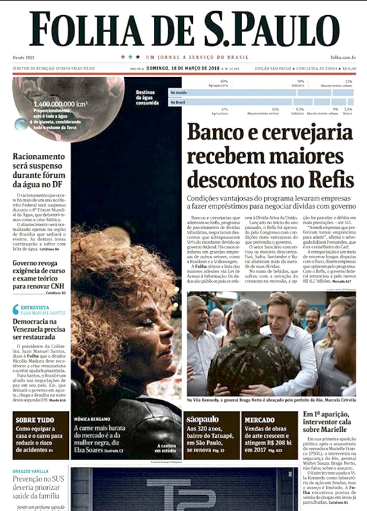 - On March 17th I was on assignment for Folha de São Paulo newspaper to cover a social action promoted by the Brazilian army, the mayor and the governor at Vila Kennedy. The place, in Bangu, suburb of the city, is
