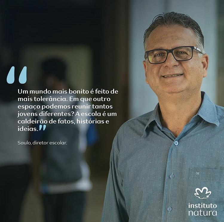 Saulo Andreon, Diretor da Escola Viva São Pedro, em Vitória/ES.